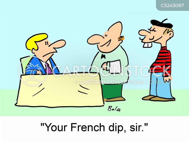 French Dip Cartoons and Comics - funny pictures from CartoonStock