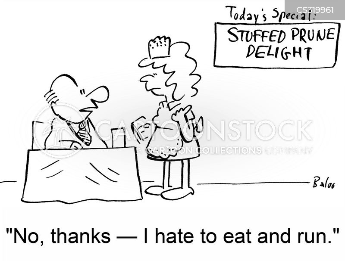 eat and run cartoon