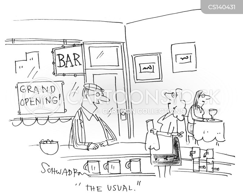 bar maids cartoon