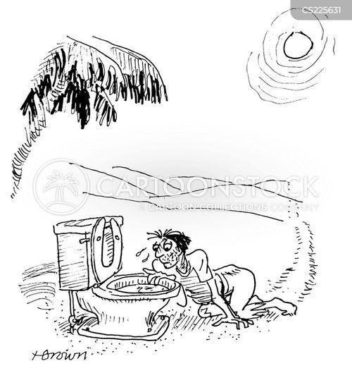 dehydrating cartoon