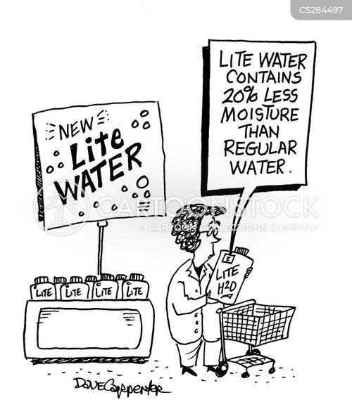 mineral water cartoon