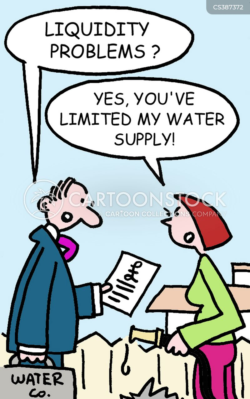 water supplier cartoon
