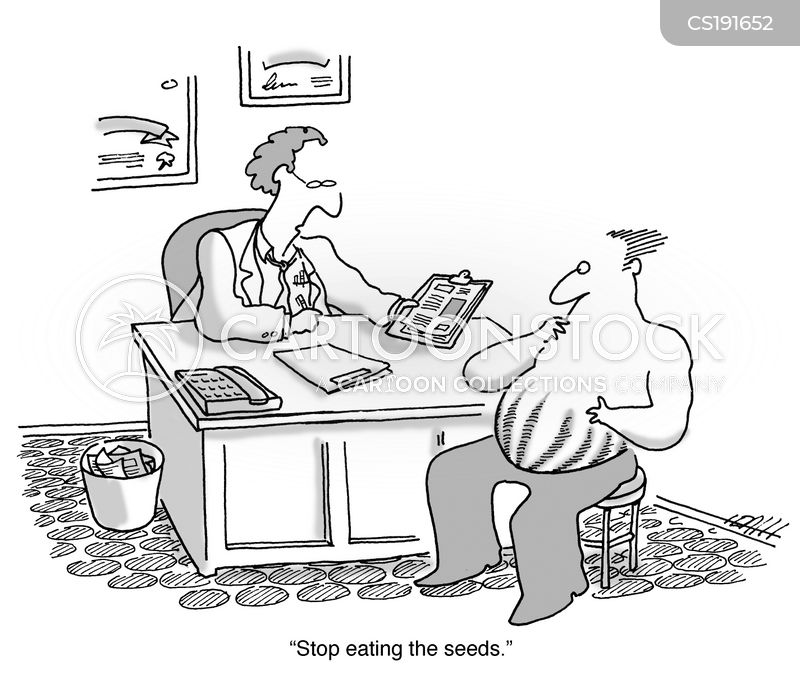 eating seeds cartoon