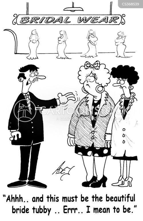 bride-to-be cartoon