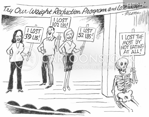weight loss programs cartoon