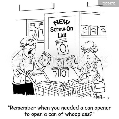 canned goods cartoon
