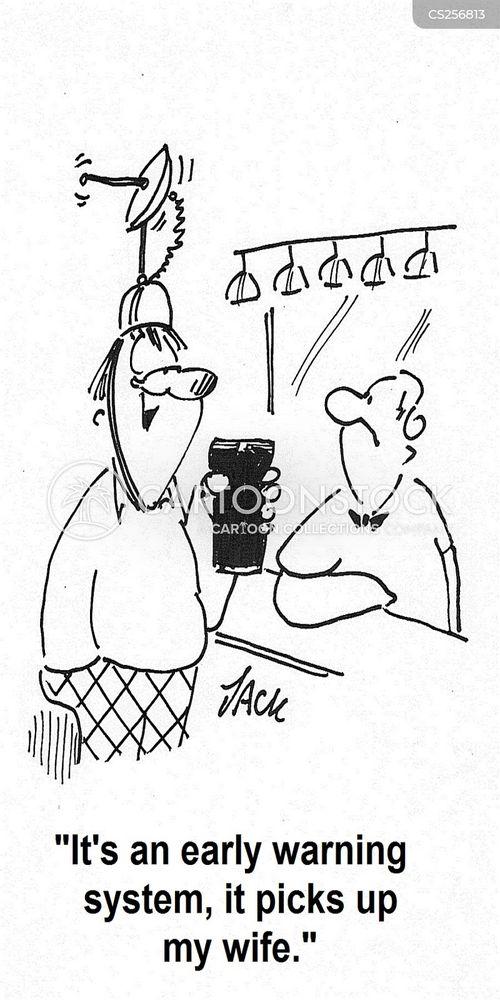 early warning system cartoon