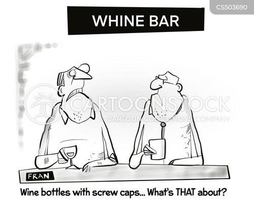 screw caps cartoon