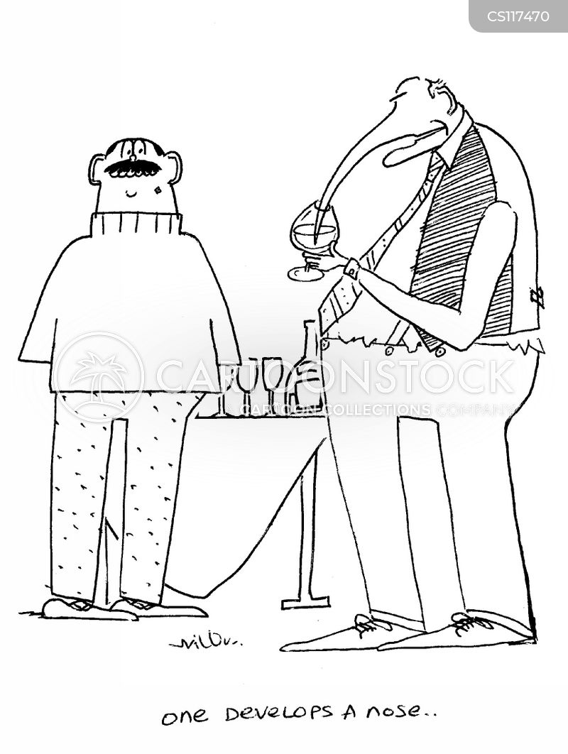 wine drinker cartoon