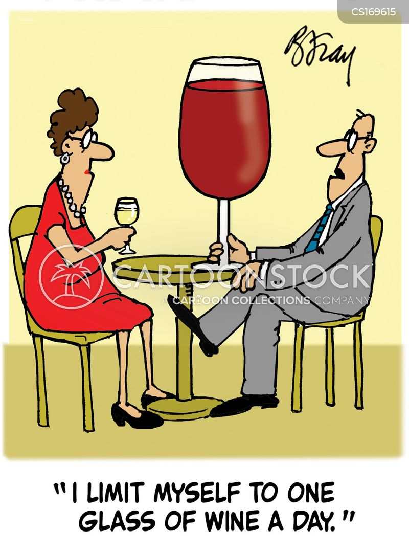 glass of wine cartoon
