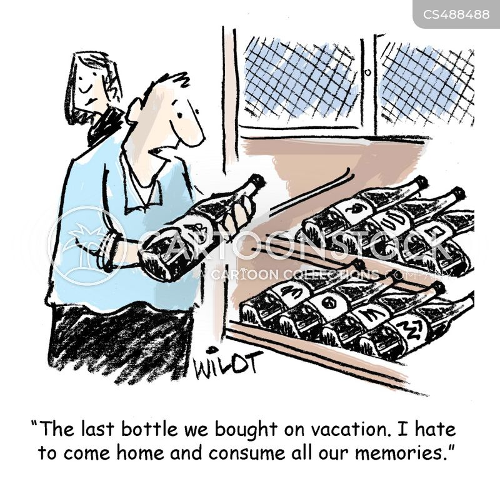 wine collection cartoon