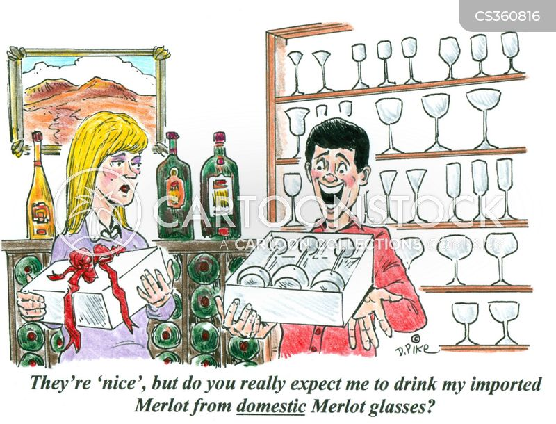 glassware cartoon