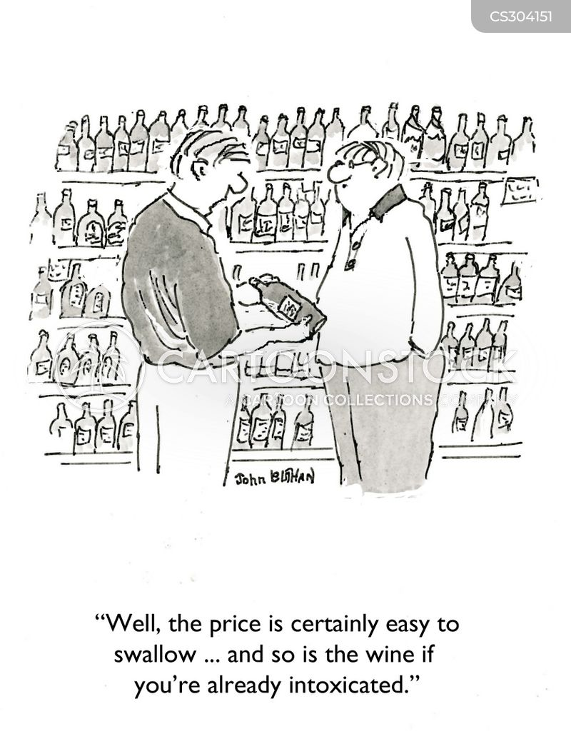 cheap wines cartoon