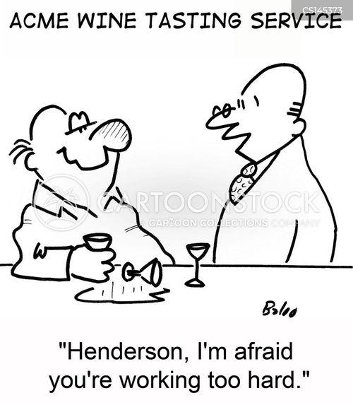 wine derinkers cartoon
