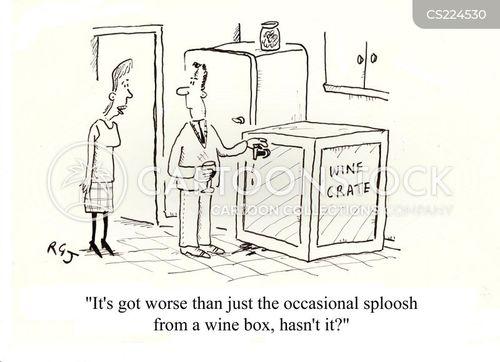 wine box cartoon