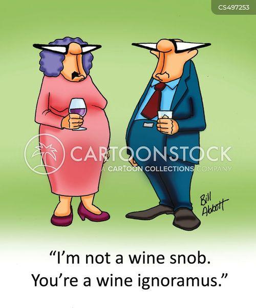 wine culture cartoon