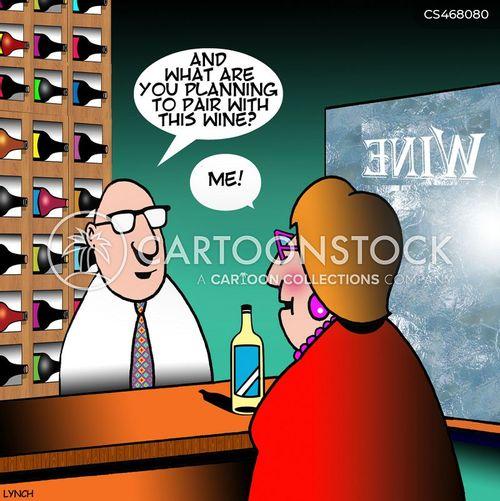 wine pairings cartoon