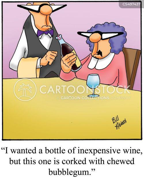 cheap wines cartoon
