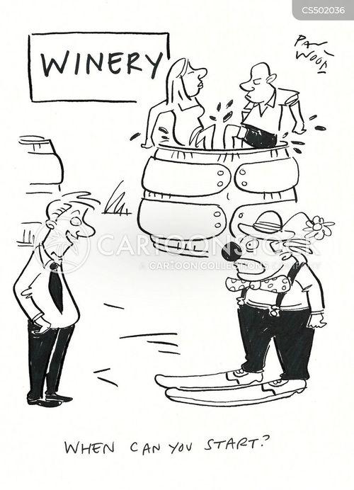 wine-maker cartoon
