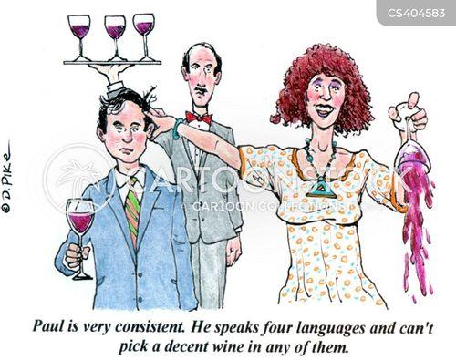wine experts cartoon