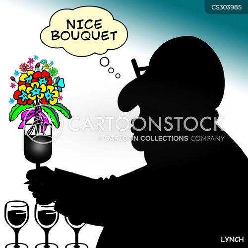 wine judge cartoon