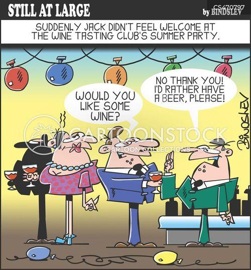 wine slob cartoon