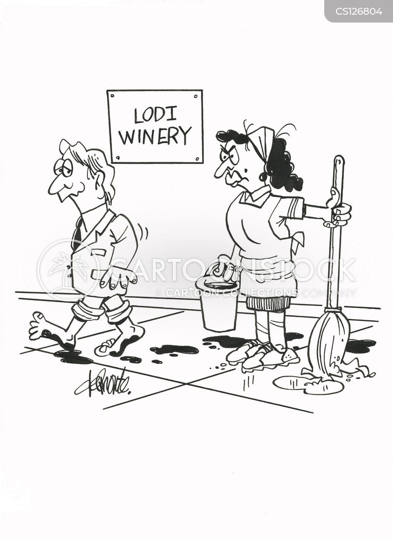 crushing grapes cartoon