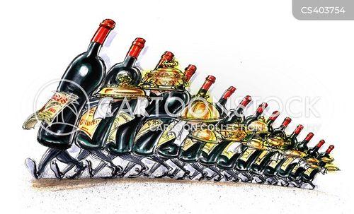 white wines cartoon