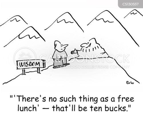 free lunch cartoon