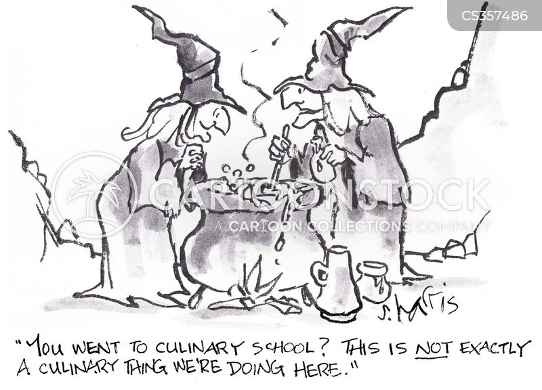 culinary school cartoon