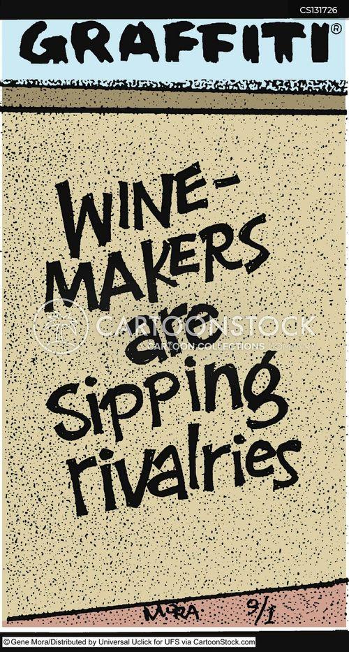 wine making cartoon