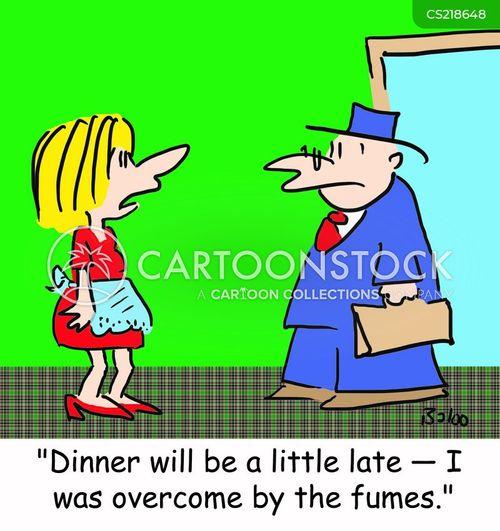 burned dinner cartoon