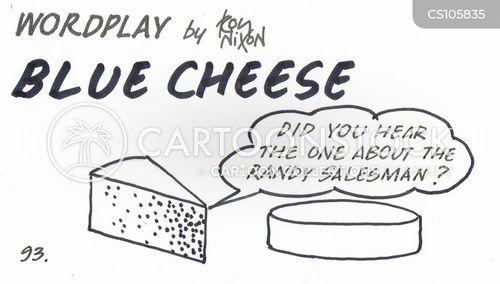 blue cheese cartoon