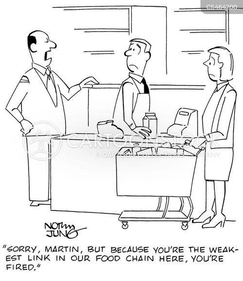 grocery clerk cartoon