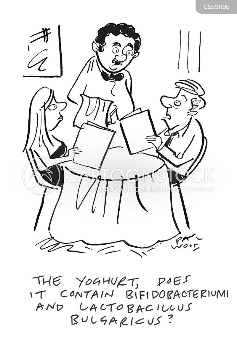yoghurts cartoon