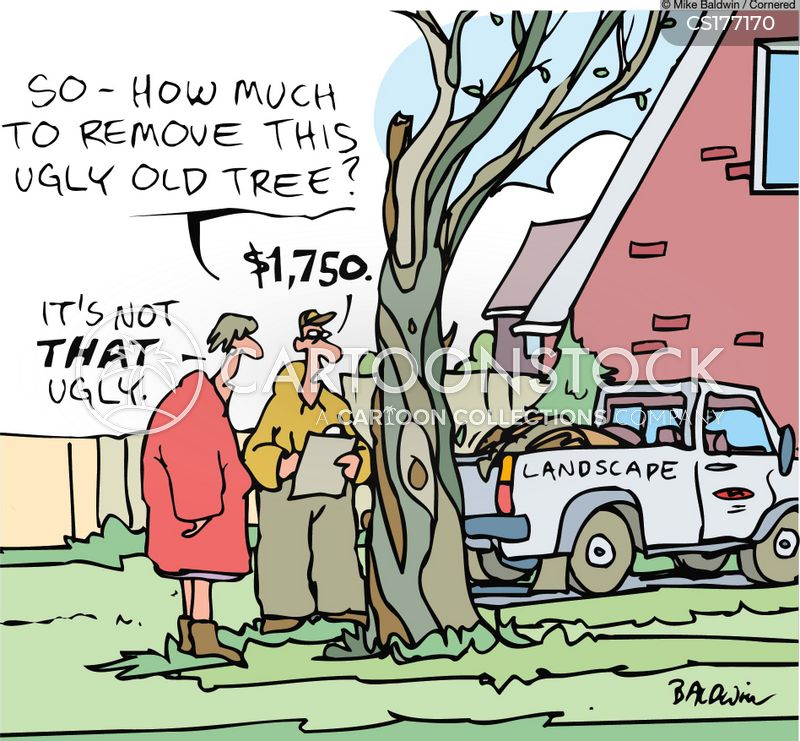 tree surgeon cartoon