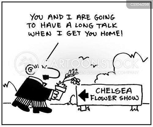 flower shows cartoon