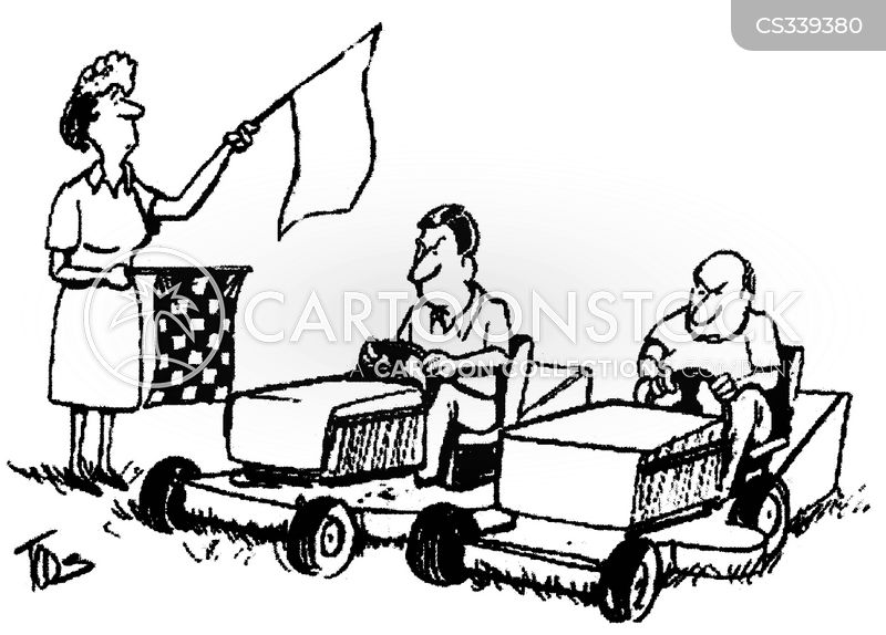 go kart race cartoons and comics funny pictures from cartoonstock