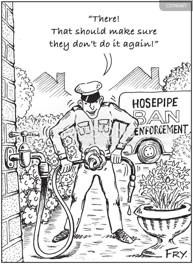 water restriction cartoon