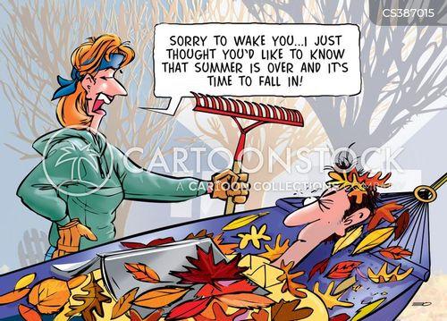 fall in cartoon