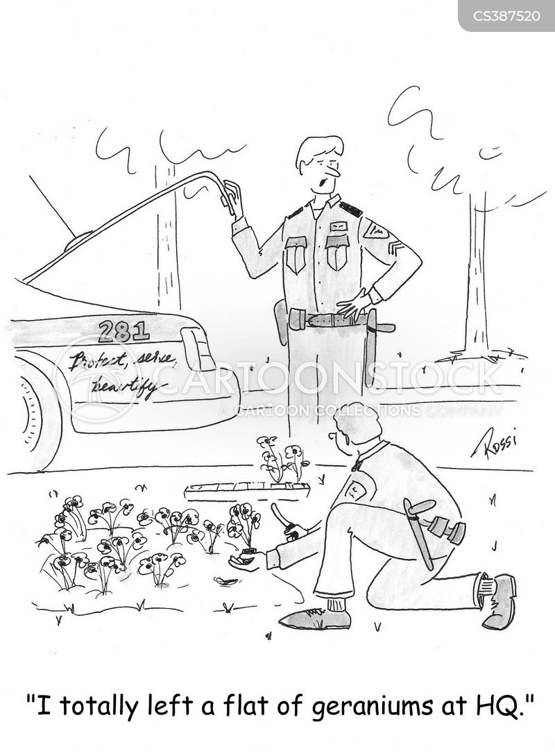 picking flowers cartoon