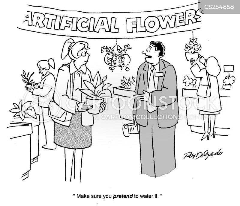 watering flowers cartoon