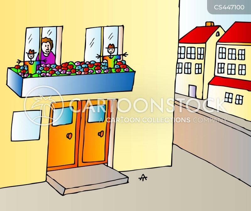 urban garden cartoon