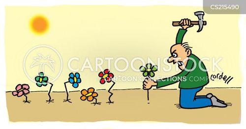 planted cartoon