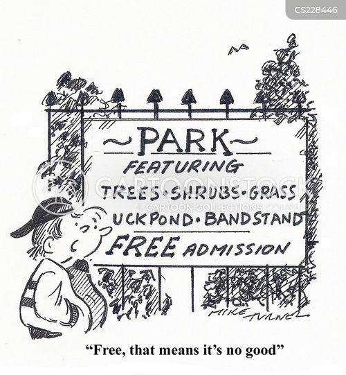 city parks cartoon