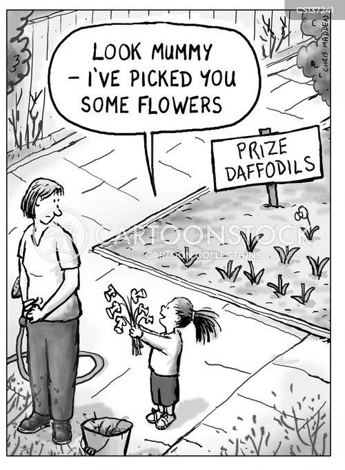 daffodils cartoon