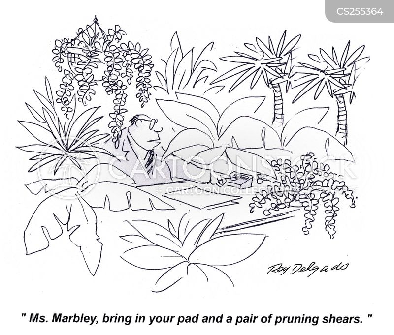 pruning gloves cartoon