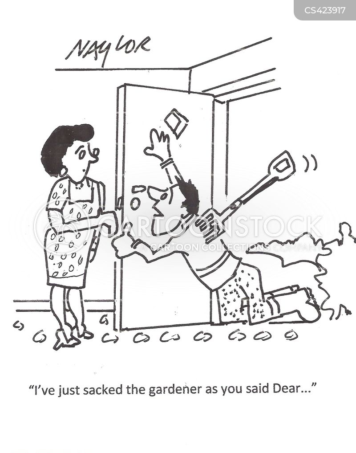 landscape gardeners cartoon