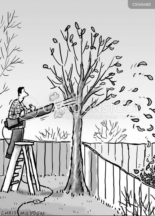 garden chore cartoon