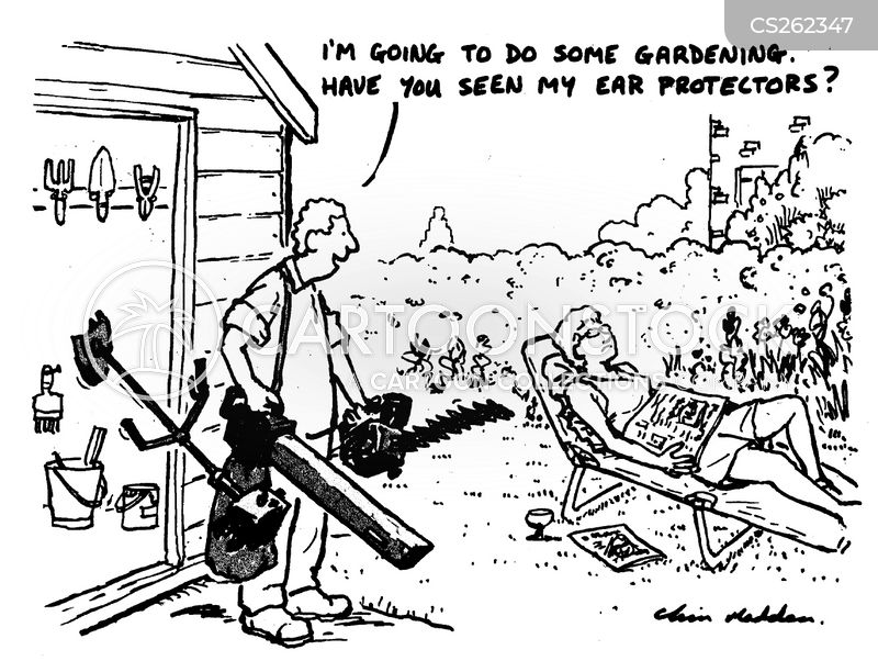 grass trimmer cartoon